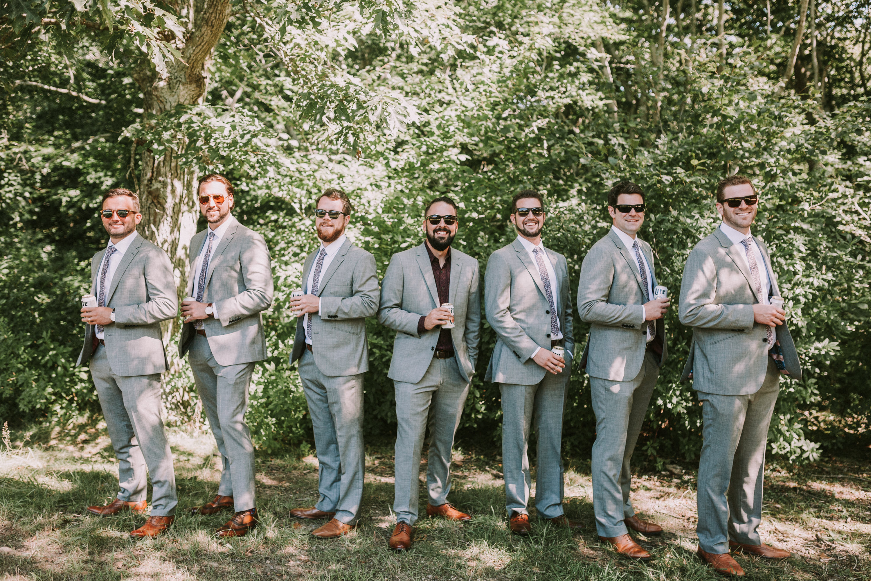 groomsmen, beer, sunglasses, bro, groomsmen with beer hanging out, groom with bros and beers