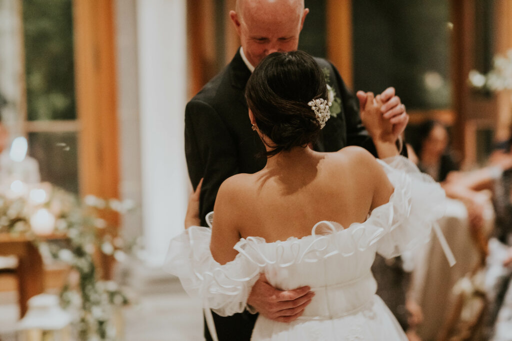 bride and father dancing